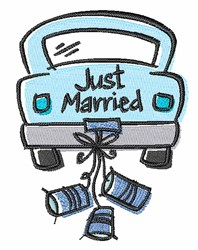 Just Married Car embroidery design