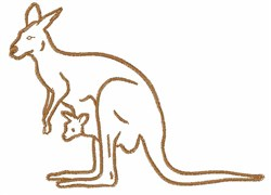 Kanga & Roo Outline embroidery design