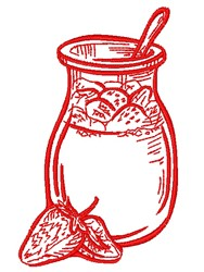 Strawberry Preserves Outline embroidery design