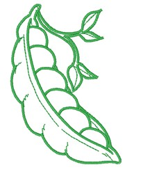 Pea Pod Outline embroidery design