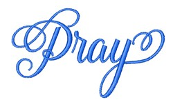 Pray embroidery design
