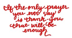 Thank You Prayer embroidery design