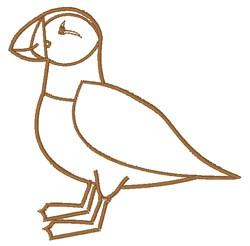 Puffin Outline embroidery design