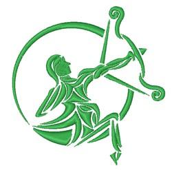 Centaur Logo embroidery design