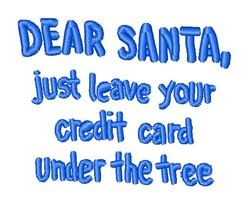 Leave Your Credit Card Santa embroidery design