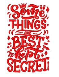 Best Kept Secret embroidery design