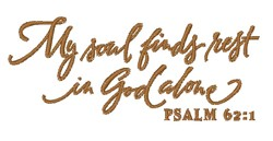 My Soul Finds Rest embroidery design