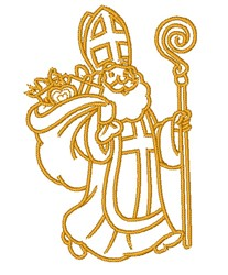 Papa Noel Outline embroidery design