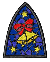 Jingle Bells Stained Glass embroidery design