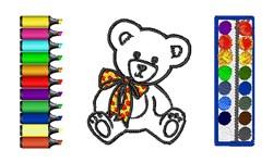 Teddy Bear Art embroidery design