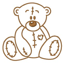 Teddy Outline embroidery design