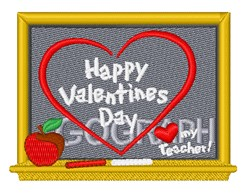 Happy Valentines Teacher embroidery design