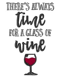 Always Time For Wine embroidery design
