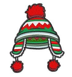 Winter Pom Stocking Cap embroidery design