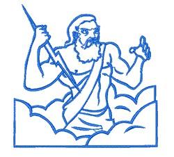 Zeus Outline embroidery design