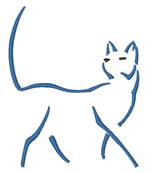 Strutting Cat   embroidery design