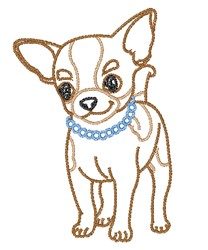 Chihuahua In Pearls   embroidery design