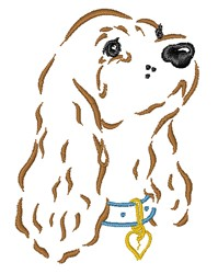 Cocker Spaniel Outline embroidery design