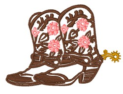 Cowgirl Boots embroidery design