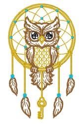 Owl Dreamcatcher embroidery design