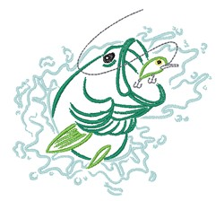 Fishing Outline embroidery design