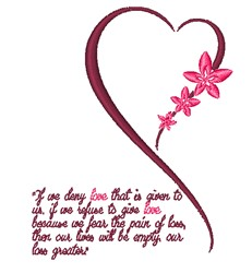 Our Love embroidery design