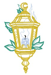 Candle Lamp embroidery design