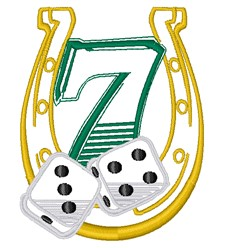 Lucky 7 embroidery design