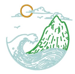 Ocean & Mountain embroidery design