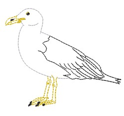 Seagull Outline embroidery design