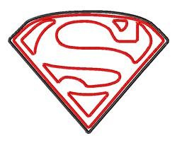 Superman Symbol embroidery design