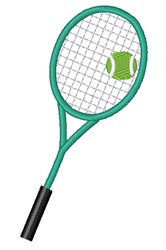Ball & Racket embroidery design