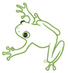 Outline Frog embroidery design