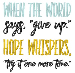 Hope Whispers embroidery design