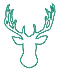 Buck Head Outline embroidery design