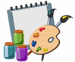 Artists Supplies embroidery design