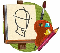 Artists Easel embroidery design
