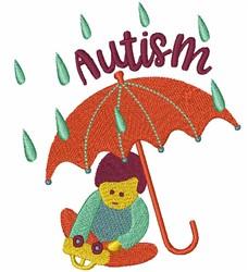 Autism Umbrella embroidery design