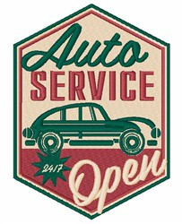 Auto Service Sign embroidery design