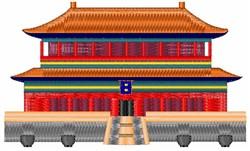 Pagoda embroidery design