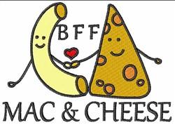 Kawaii Mac & Cheese embroidery design
