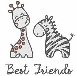 Best Friend Animals embroidery design