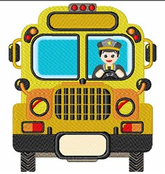 School Bus & Driver embroidery design