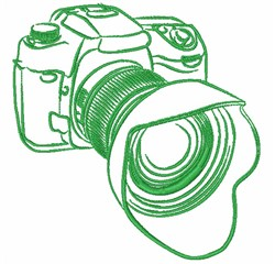 35mm Camera Outline embroidery design