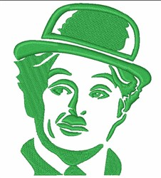 Charlie Chaplin Outline embroidery design