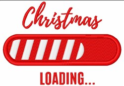 Christmas Loading embroidery design