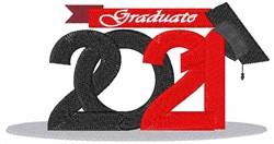 Graduate 2021 embroidery design