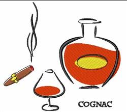 Cigar & Cognac embroidery design