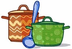 Soup Pots embroidery design