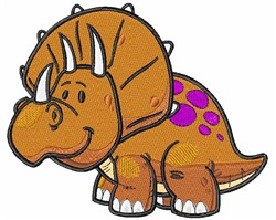 Kawaii Triceratops embroidery design